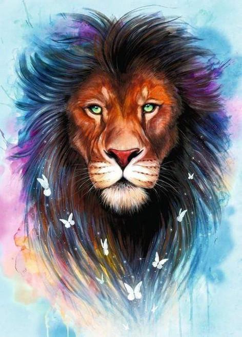 5D Diamond Painting Abstract Mane Lion Kit