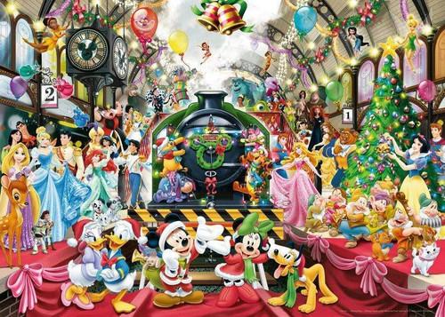 5D Diamond Painting Disney Christmas Train Station Kit