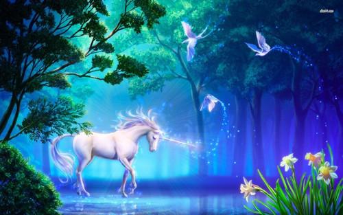 5D Diamond Painting Magical Unicorn Forest Kit