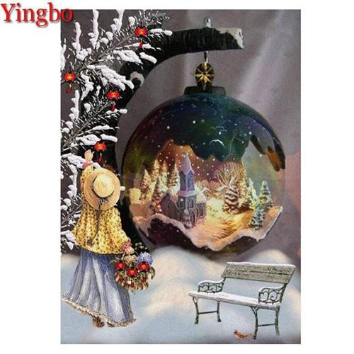 5D Diamond Painting Abstract Christmas Ornament Kit