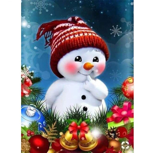 5D Diamond Painting Cute Little Snowman Kit