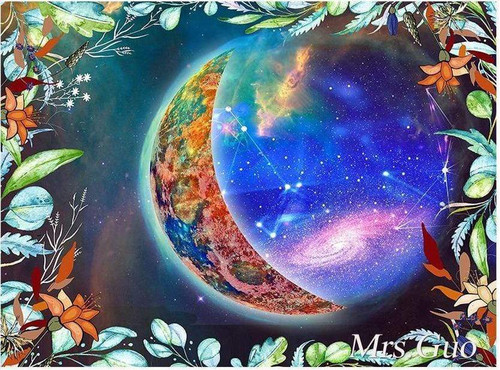 5D Diamond Painting Leaves and Galaxy Kit