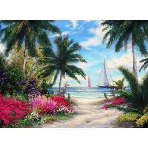 5D Diamond Painting Flowers by the Sand Kit