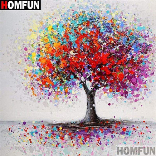 5D Diamond Painting Colorful Tree Kit