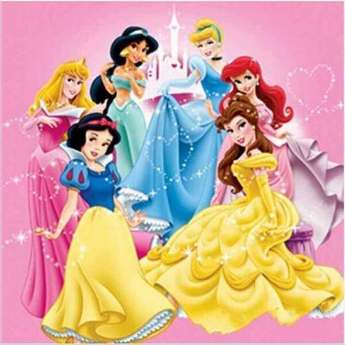 5D Diamond Painting Castle Six Princess Kit