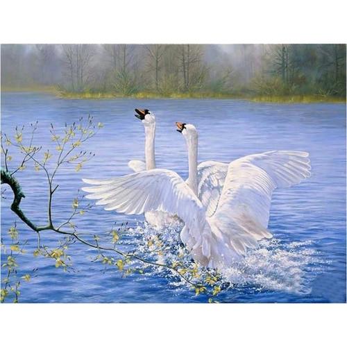 5D Diamond Painting Wings Spread Swans Kit