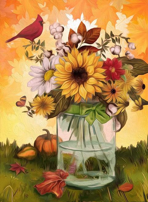 5D Diamond Painting Glass Vase Sunflower Bouquet Kit
