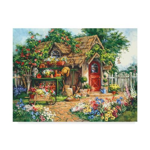5D Diamond Painting House in the Flower Garden Kit