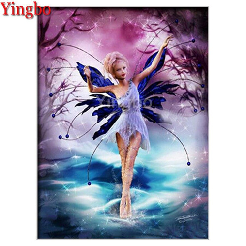 5D Diamond Painting Fairy with Blue Wings Kit