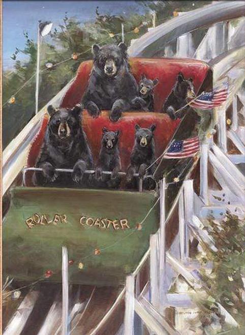 5D Diamond Painting Roller Coaster Bears Kit