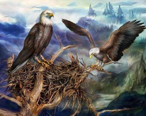 5D Diamond Painting Eagles Nest Kit