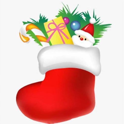 5D Diamond Painting Red Christmas Stocking Kit