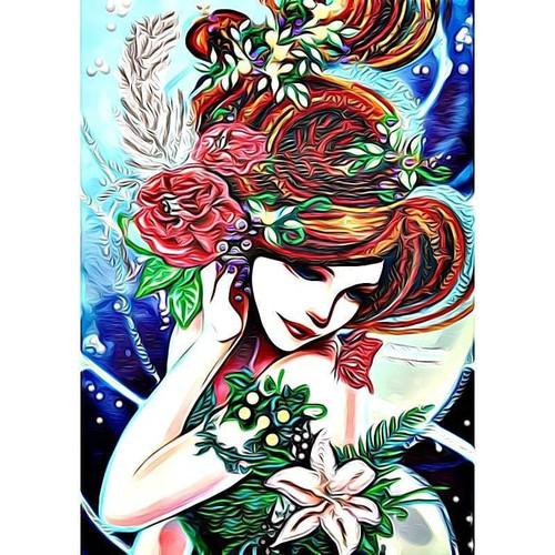 5D Diamond Painting Rose Hair Woman Kit