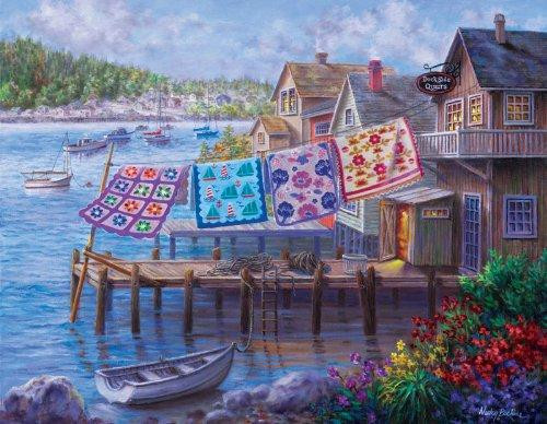 5D Diamond Painting Quilts Drying by the Dock Kit