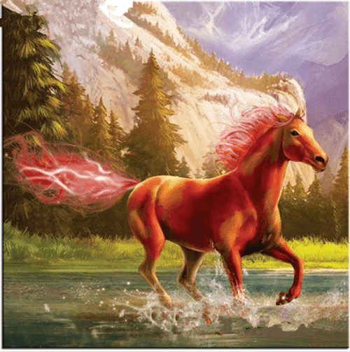 5D Diamond Painting Fire Tail Horse Kit