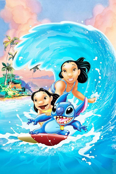 5D Diamond Painting Lilo and Stitch Surfing Kit