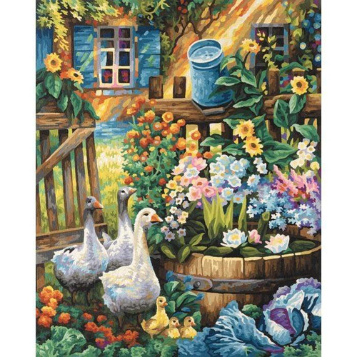 5D Diamond Painting Geese by Barrel of Flowers Kit