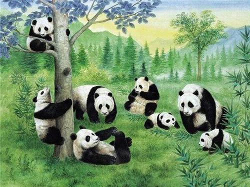 5D Diamond Painting Pandas Under A Tree Kit