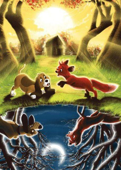 5D Diamond Painting Fox and Hound Reflections Kit