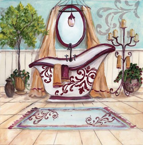 5D Diamond Painting Red Mirror Bathroom Kit