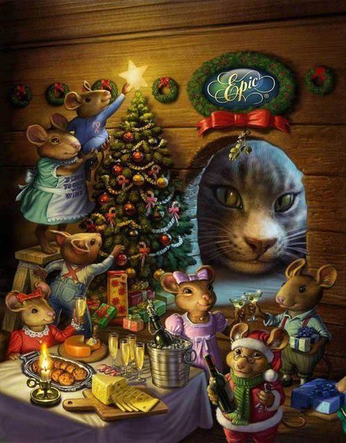 5D Diamond Painting Mouse Christmas Kit