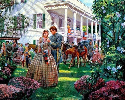 5D Diamond Painting Plantation Home During the Civil War Kit