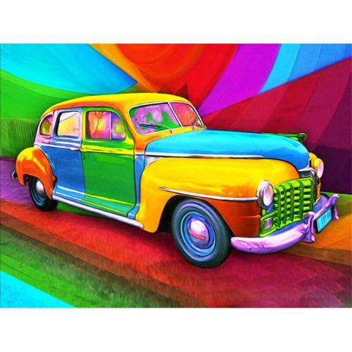 5D Diamond Painting Colorful Old Car Kit