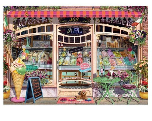 5D Diamond Painting 408 Ice Cream Shop Kit
