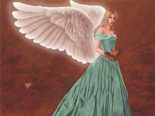 5D Diamond Painting Green Dress Angel Kit