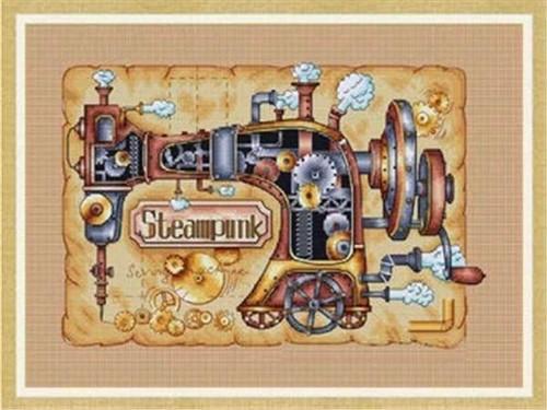 5D Diamond Painting Steam Punk Sewing Machine Kit