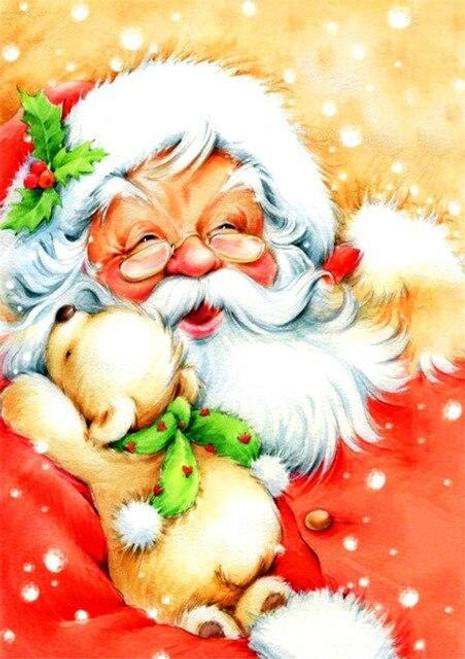 5D Diamond Painting Santa Puppy Hugs Kit