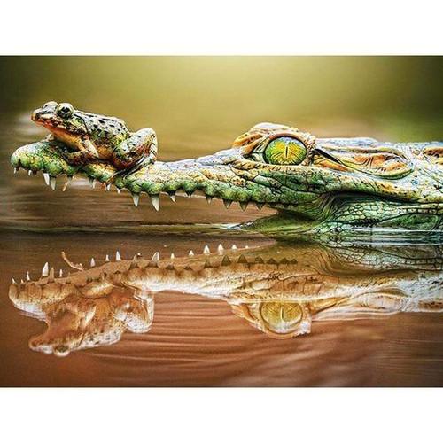 5D Diamond Painting Alligator and Frog Kit