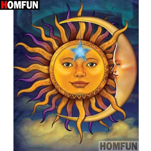 5D Diamond Painting Blue Star Sun Kit
