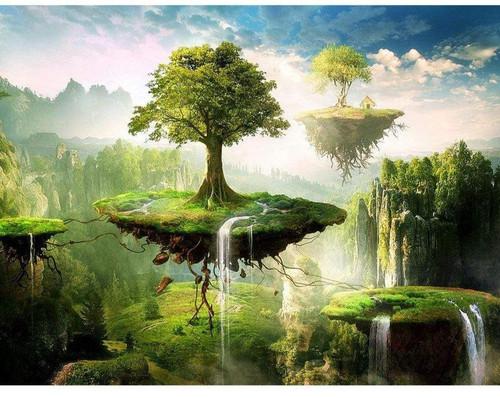 5D Diamond Painting Floating Trees Kit