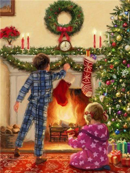5D Diamond Painting Hanging Christmas Stockings Kit