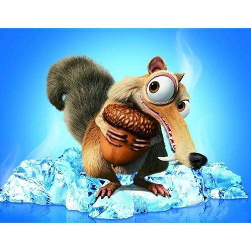 5D Diamond Painting Scrat from Ice Age and his Acorn Kit