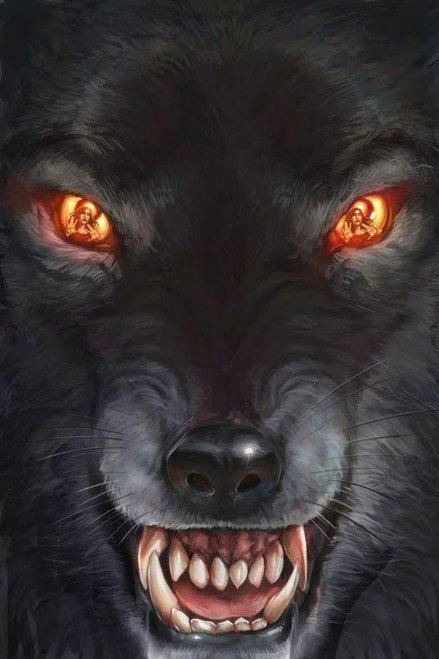 5D Diamond Painting Glowing Eye Wolf Kit