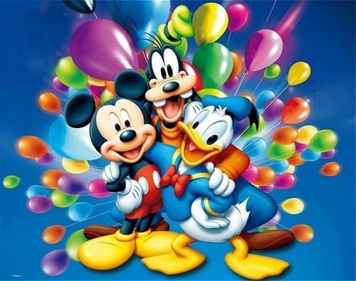 5D Diamond Painting Mickey Mouse Balloons Kit