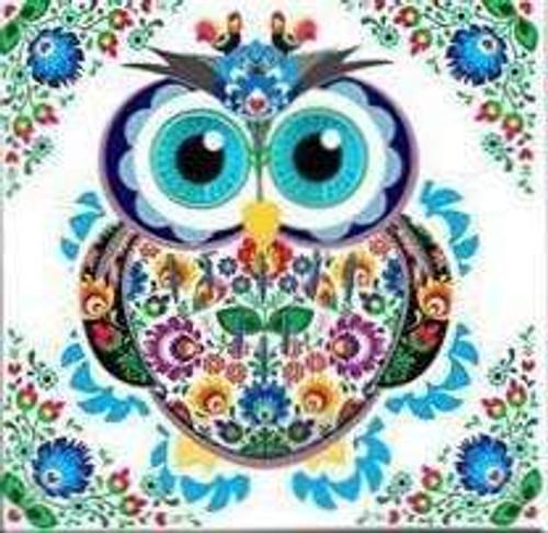 5D Diamond Painting Flower Owl Kit
