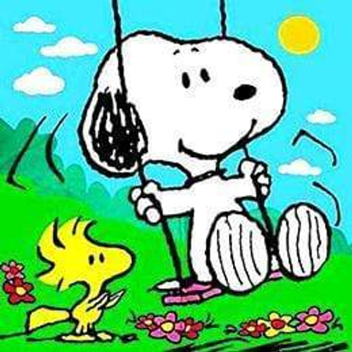 5D Diamond Painting Woodstock and Snoopy on the Swings Kit