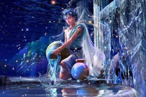 5D Diamond Painting Galaxy Water Girl Kit