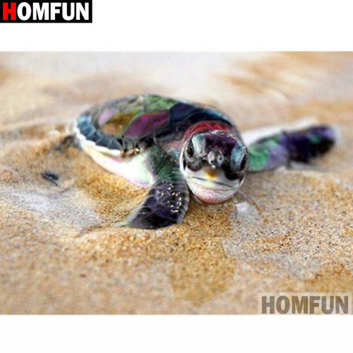 5D Diamond Painting Turtle in the Sand Kit