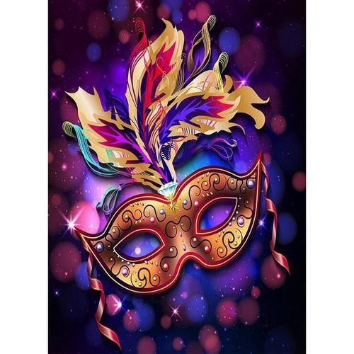 5D Diamond Painting Mardi Gras Gold Mask Kit
