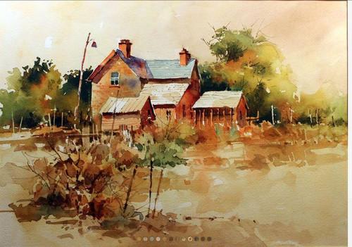 5D Diamond Painting Painted Old Farm House Kit