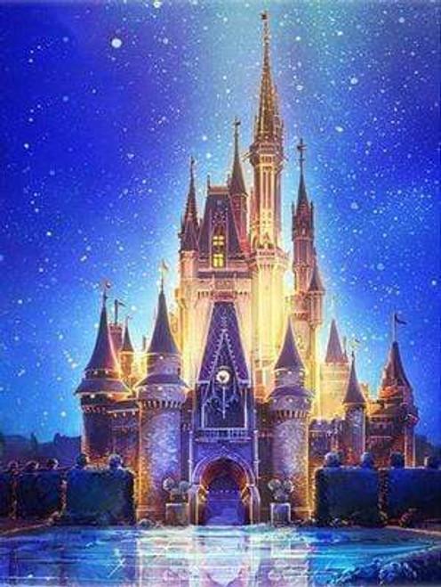 5D Diamond Painting Mickey Mouse Castle Kit