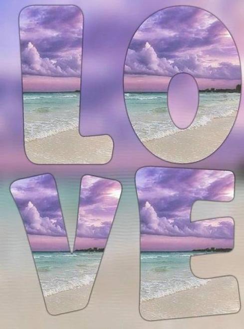 5D Diamond Painting Purple Sunset Love Kit