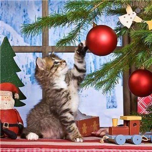 5D Diamond Painting Kitten Christmas Ornaments Kit