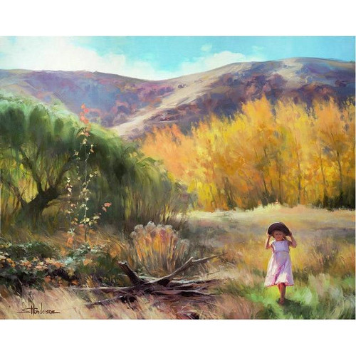 5D Diamond Painting Little Girl in the Meadow Kit