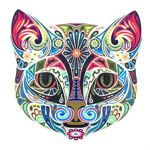 5D Diamond Painting Abstract Design Cat Face Kit