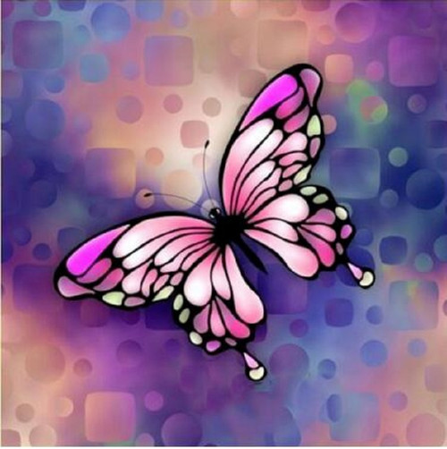 5D Diamond Painting Shades of Pink Butterfly Kit